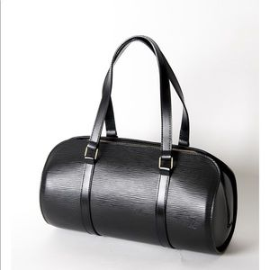 Louis Vuitton Black Epi Leather Soufflot Bag
